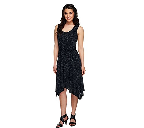 Lisa Rinna Collection Regular Angle Hem Tank Dress W  Belt