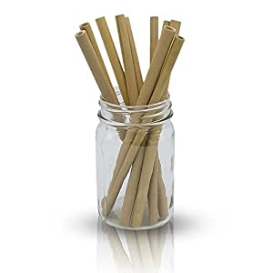 Bamboo Straws. Reusable Bamboos Straws Alternative to Plastic Kids Straws. Includes 10 Natural Bamboo Drinking Straws and 1 Cloth Bag for Easy Storage. 3 Sizes (20-24 cm)
