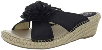 Women's Lifestride, Bloom Espadrille Wedge slide Sandals BLACK 7.5 N