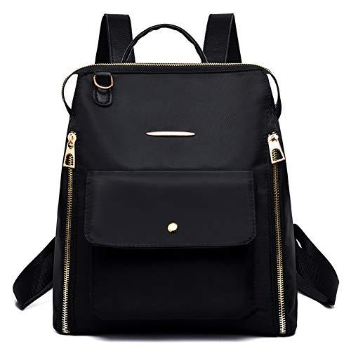 Damesmode Dames schoudertas rugzak Crossbody Bookbag Rugzak Waterdichte zwart tas Zwart Oxford APA4qrF