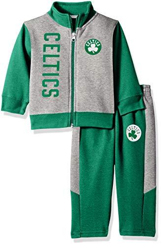 (Outerstuff NBA NBA Infant Boston Celtics On The Line Jacket & Pants Fleece Set, Kelly Green, 24 Months )