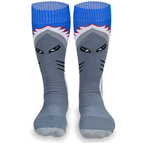 ChalkTalkSPORTS Halloween Half Cushioned Knee-High Socks | Shark Attack Costume -
