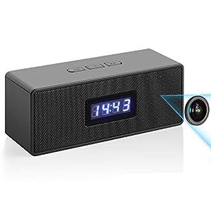 Flashandfocus.com 41K9QyqnOFL._SS300_ HD Wireless WiFi Clock-Camera Bluetooth-Music-Speaker-Camera - Home,Office,Shop IP Remote Security Monitor Video…