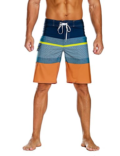 Nonwe Men's Sportwear Quick Dry Board Shorts with Lining Blue 32