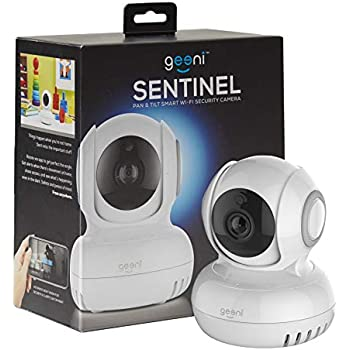Geeni Sentinel Wireless Security Camera, WiFi Home Surveillance IP Camera for Baby/Elder/Pet/Nanny Monitor, Pan/Tilt, Two-Way Audio & Night Vision