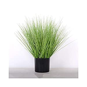 AA- Simulation of Reed Foxtail Fake Flower Ornaments, Shopping Mall Window Set Display Artificial Green Plant Bonsai 0618 (Color : Grass, Size : S) 89