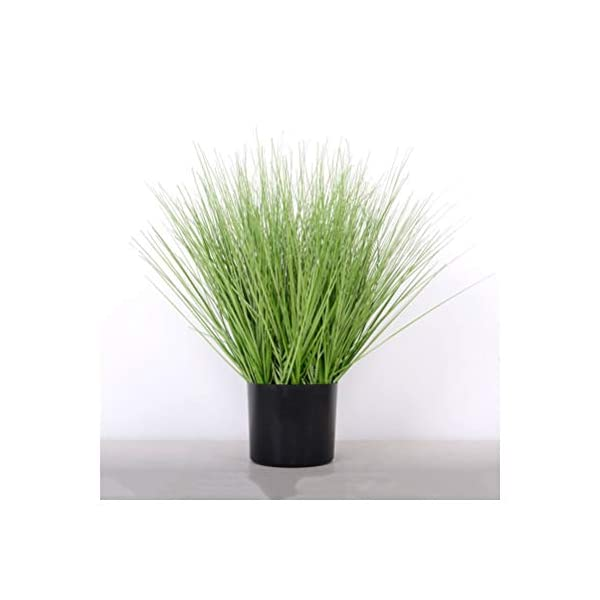 AA- Simulation of Reed Foxtail Fake Flower Ornaments, Shopping Mall Window Set Display Artificial Green Plant Bonsai 0618 (Color : Grass, Size : S)