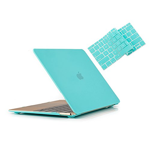RUBAN MacBook 12 Inch Case Release (A1534) - Slim Snap On Hard Shell Protective Cover and Keyboard Cover for MacBook 12, Turquoise