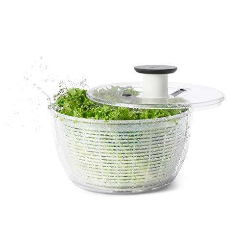 OXO Good Grips Salad Spinner, Large, Clear (Gallons Electric Parts Washer)