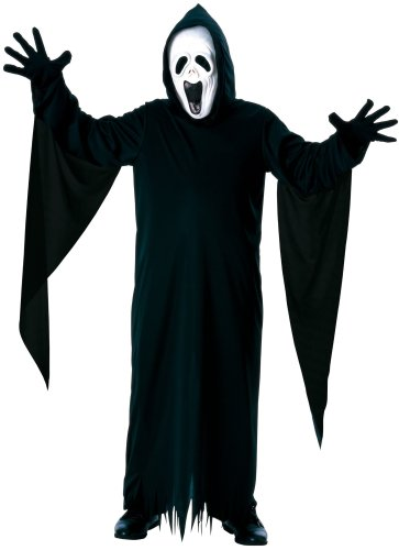 [Howling Ghost Children's Costume with Mask, Robe and Gloves, Small] (Black Full Cut Robe Costumes)