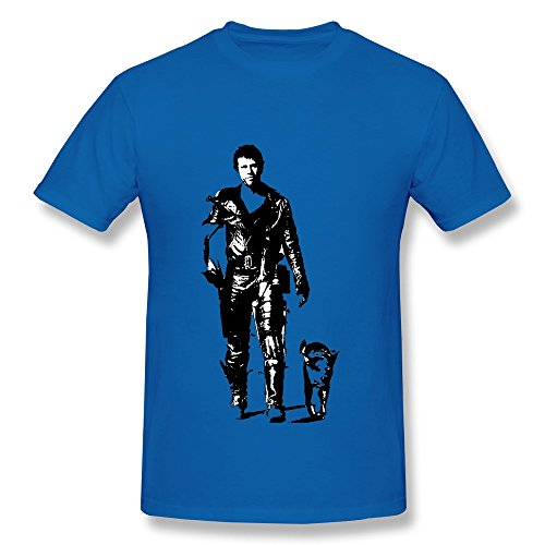 FK Mad Max Mel Gibson On The Road T Shirt For Men RoyalBlue (Mad Max Nux)