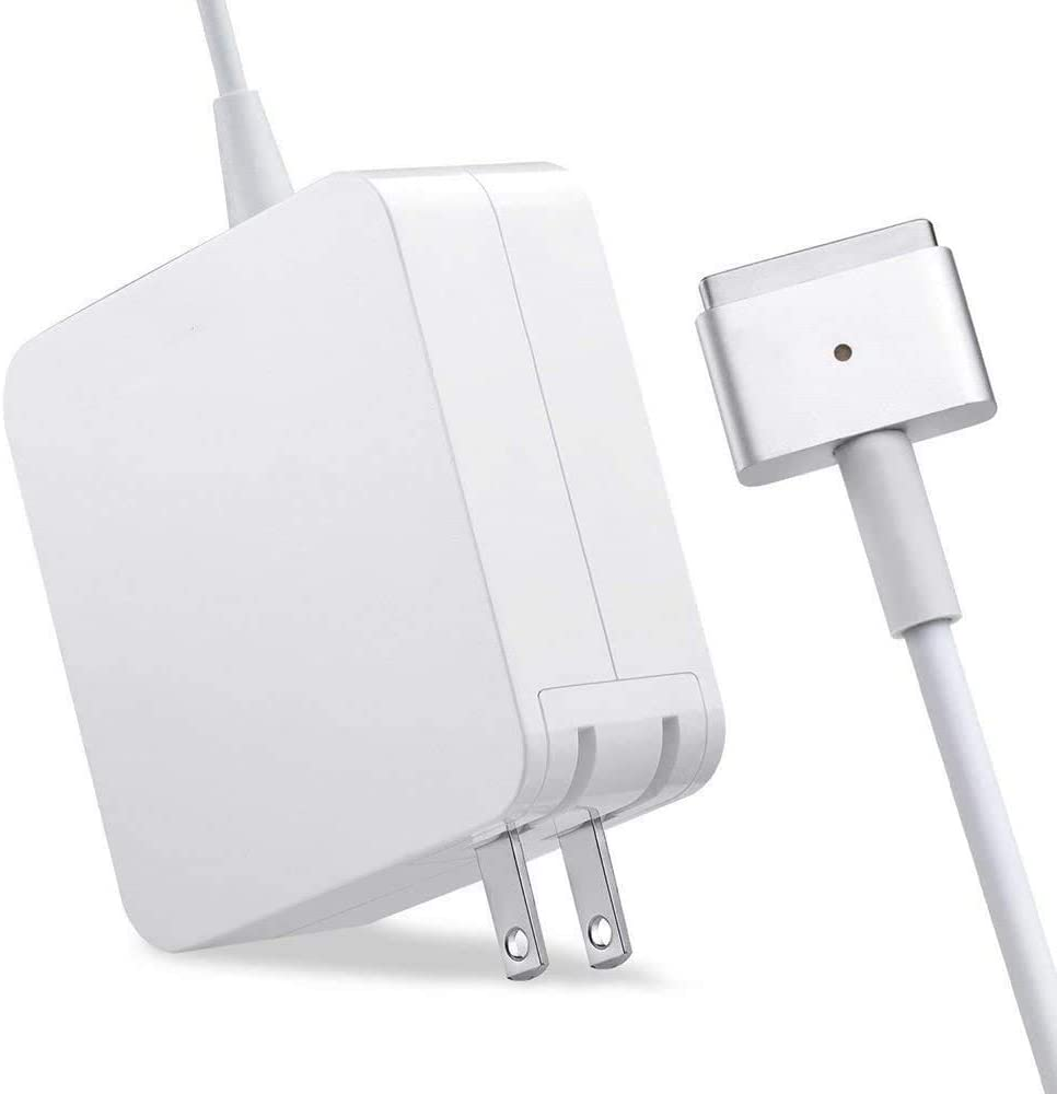 Mac Book Pro Charger, AC 85w Power Adapter Magnetic 2 T-Tip Adapter Charger Connector, MacBook Pro 17/15/13 Inch [Made After Mid 2012]