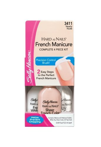 Sally Hansen Hard as Nails French Manicure, Nearly Nude, 0.45 Ounce by Sally Hansen