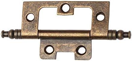 Antique Bronze Flush Hinge with Finial Corner Hinge Door Hardware Flap Hinge
