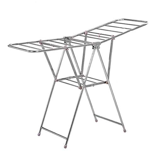 Homewares Winged Folding Clothes Airer Adjustable Clothes Dr