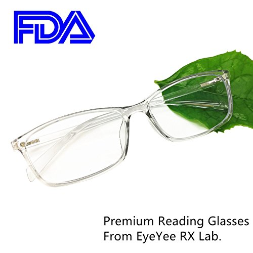 Reading Glasses 2.0 Blue Light Blocking Reader Gaming Screen Digital Eyeglasses Anti Glare Eye Strain Transparent Lens UV Light Weight for Women - Blocking Light Blue Reading Glasses