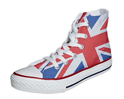 Converse All Star Customized - zapatos personalizados (Producto Artesano) con la bandera británica