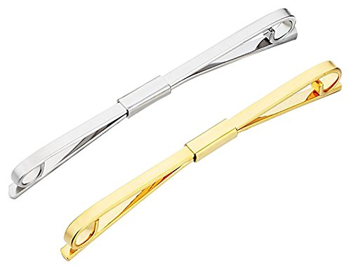 Geek-M Tie Collar Bar Pin Set for Men Classic Collar Clip Set of 2 (Style 6)