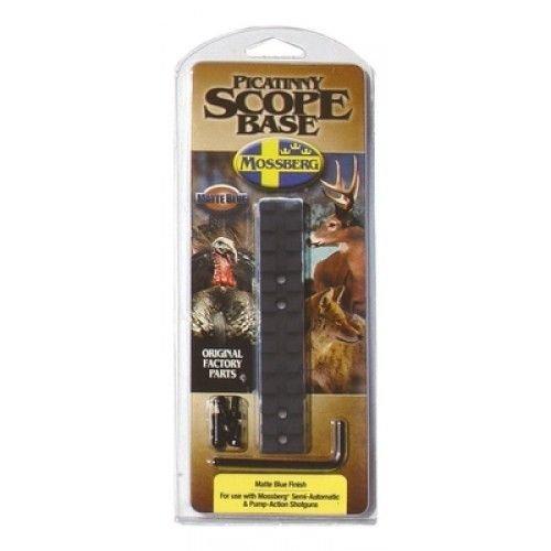 Mossberg Shotgun Picatinny Rail with Scope Base 95208, Matte Blue Finish