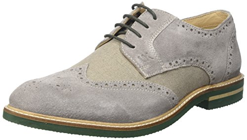 Lumberjack Alonso - zapatos Brogue Hombre Grigio (Lt Grey/Salvia)