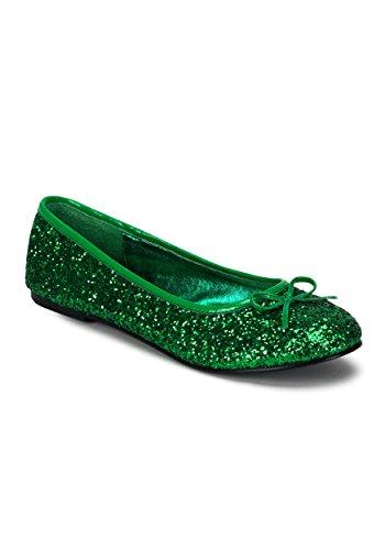 Funtasma by Pleaser Women's Star-16G Flat,Green Glitter,9 M US -