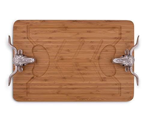 Arthur Court Longhorn 20-Inch Bamboo Carving Board