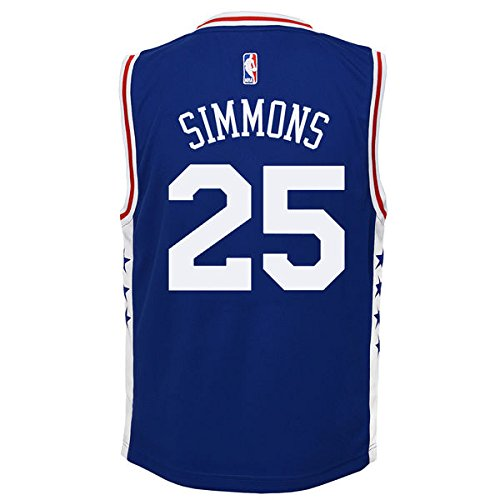 OuterStuff NBA Philadelphia 76ers Ben Simmons Boys 8-20 Jersey, Large (14-16), (76ers Youth Jersey)