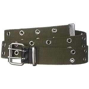 Strait City Trading Co 1-1/2″ men's double eyelet cotton canvas belt