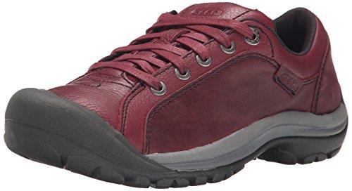 KEEN Women's Briggs Leather Casual Shoe, Zinfandel, 5 M US
