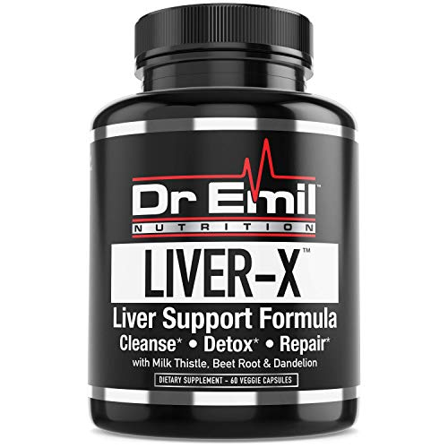 Dr. Emil's - Liver Cleanse & Detox with Milk Thistle, Dandelion Root & Powerful Antioxidants - Doctor Formulated Liver Aid, Repair & Support Supplement (60 Veggie Capsules)
