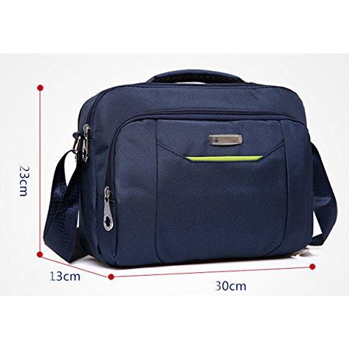 Robusto Artículo Ligero Concisa Deporte Casual Crossover Plana Bolso De Hombro Inclinado Bolso Multicolor Blue