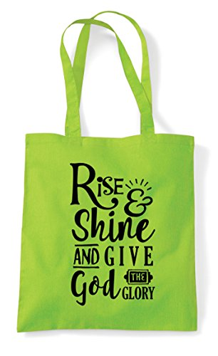 Shine Glory Give Shopper God Bag Statement Rise Tote Lime And Religious qTCd4qapw