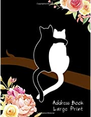 Address Book Large Print: Large Address Book For Seniors : Address Book Large Size : Phone Book For Elderly : Big Alphabetical and Space Easily For Read And Write Perfect For Seniors Or Vision-Impaired : 350+ Contact Entries : 8 1/2 x 11 inch