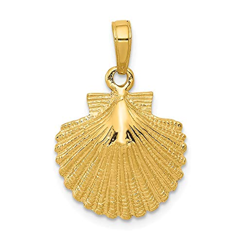 14k Yellow Gold Scallop Shell Pendant ()