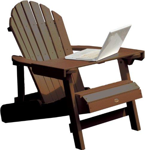 Highwood Adirondack Laptop/Reading Table, Weathered Acorn