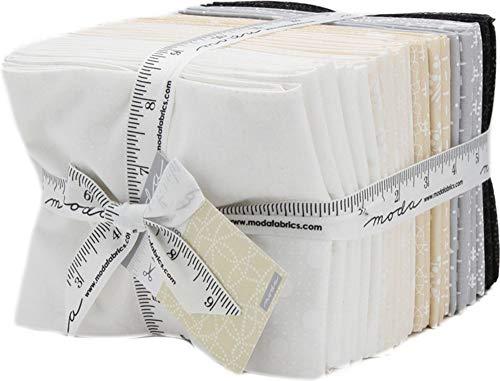 Moda Muslin Mates (Muslin Mates 2018 Fat Quarter Bundle 30 Precut Cotton Fabric Quilting FQs Assortment by Moda Fabrics, 9981AB)