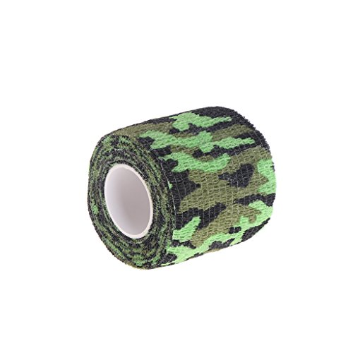 BecauseOf Camouflage Tape Cling, Camo Adhesive Roller Wrap Scroll Outdoor Guise Protective Tape (#3) (Stretch Scroll)