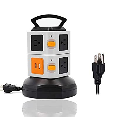 Power Strip Tower ONEreach Surge Protector Electric Charging Station 2500W 10A 16AWG