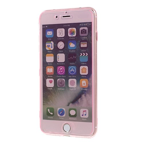 Touchable Flip TPU Soft Tasche Hüllen Schutzhülle Case für iPhone 7 Plus 5.5 inch - Pink