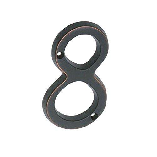 """UPC 044074680560, Schlage Lock Company SC2-3086-716 Schlage Sc2-3086-716 Number 8 Aged Bronze, 4"""""""
