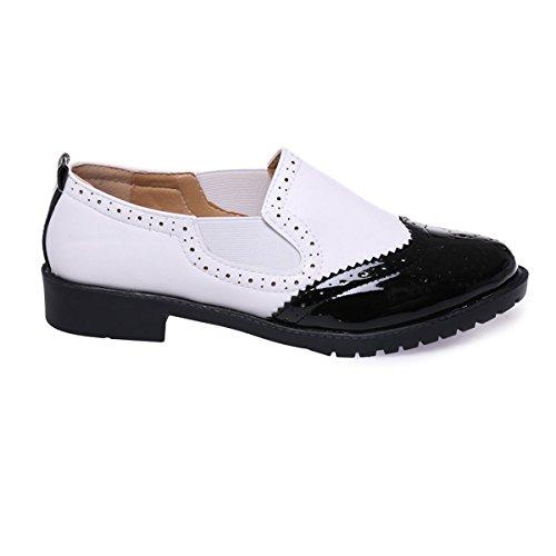 Para Modeuse Mujer De Negro Zapatos La Cordones xIwzSSq