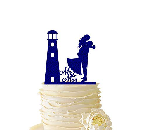 Glitter Lighthouse with Groom Lifting Bride - Wedding - Engagement - Anniversary