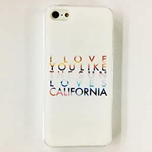 SJT Fashion English Word Pattern Plastic Hard Case for iPhone 5/5S , Multicolor