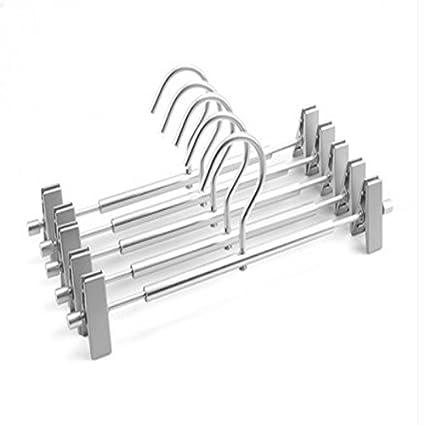 5pcs/lot de aleación de aluminio colgador perchero pant ...