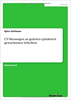 CV-Messungen an geätzten epitaktisch gewachsenen Schichten