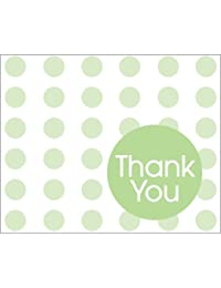 Creative Converting Baby Shower Green Dots 8 Count Thank You Cards BOBEBE Online Baby Store From New York to Miami and Los Angeles