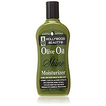 Hollywood Beauty Olive Oil Moist Shine Moisturizing Hair Lotion, 12 oz Pack of 12