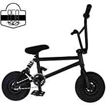 Mini BMX Freestyle Bike – Light Fat Tires With 3pce Crank & Spring Accessories For Pro To Beginner – These Bad Boy Bicycles Are Great For Stunt Trick & Racing (Black) By RIDE 858