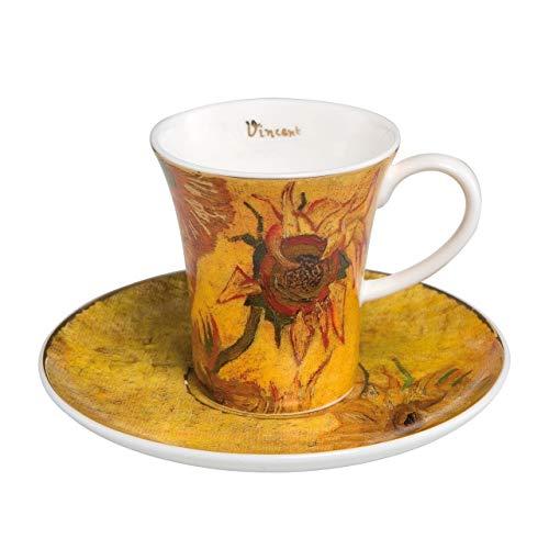 (Vincent Van Gogh Sunflowers I Espresso Set Cup and Saucer 8cm by Goebel 67011531)
