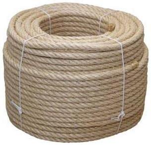 Cofan 08101060 Cuerda de sisal de 4 cabos 12 mm x 100 m